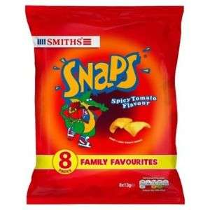 Lidl - Smiths Snaps Crisps 8 Pack for 99p