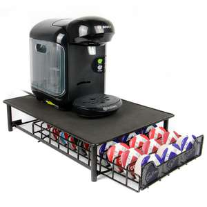 Tassimo 60 Coffee Pod Storage Drawer & Machine Stand in Black or Grey £9.99 Del w/code @ Shop4World