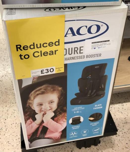 Graco 'Endure' car seat £30 instore at Tesco