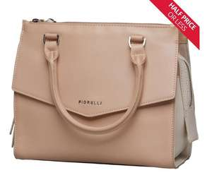 Fiorelli bag & purse clearance prices from £5.99 eg Mia Grab nude tote bag now £29.99, quilted purse now £9.99 + £4.99 del @ MandM Direct