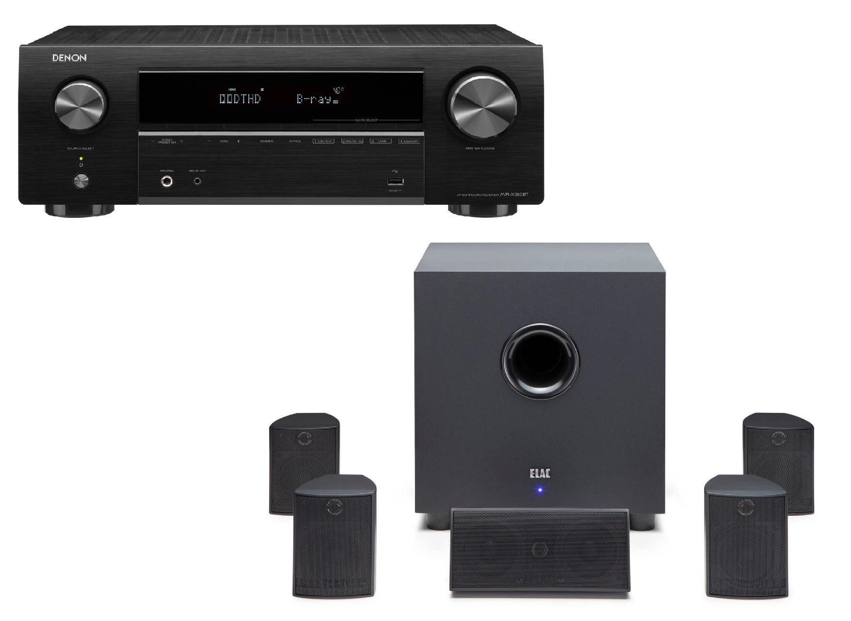 Denon AVRX550BT & Elac Cinema 5 5.1 Speaker System £449 @ Richersounds