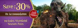 Book an overnight stay at Alton Towers and receive a standard season pass from £85pp