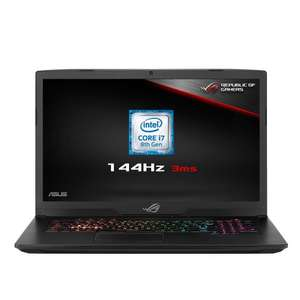 ASUS ROG Strix 17.3-Inch 144 Hz Gaming Laptop, i7-8750H, GTX1070 8GB, 16GB RAM, 256GB SSD 1TB SSHD £1399.99 @ Amazon via BoxLtd