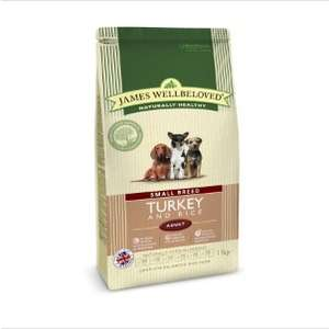 James Wellbeloved Dog Food Turkey and Rice Adult Small Breed 1.5kg £11.79 @ Pets at Home