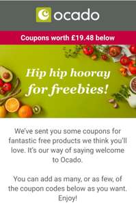 Ocado freebies with shopping and 30% off using code in link