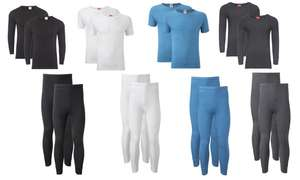 2 pack of men's thermal short or long sleeved tops or 2 pack of thermal long johns £6.99 delivered @ Groupon