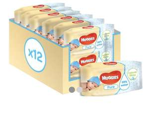 Huggies Pure Baby Wipes 56 pack x 12 - £6 at Boots (+£1.50 c&c)