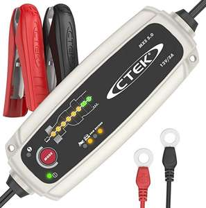 CTEK MXS 5.0 Fully Automatic Battery Charger - Charges, Maintains Reconditions Car Motorcycle Batteries 12V, 5 Amp - UK Plug £58.59 @ Amazon
