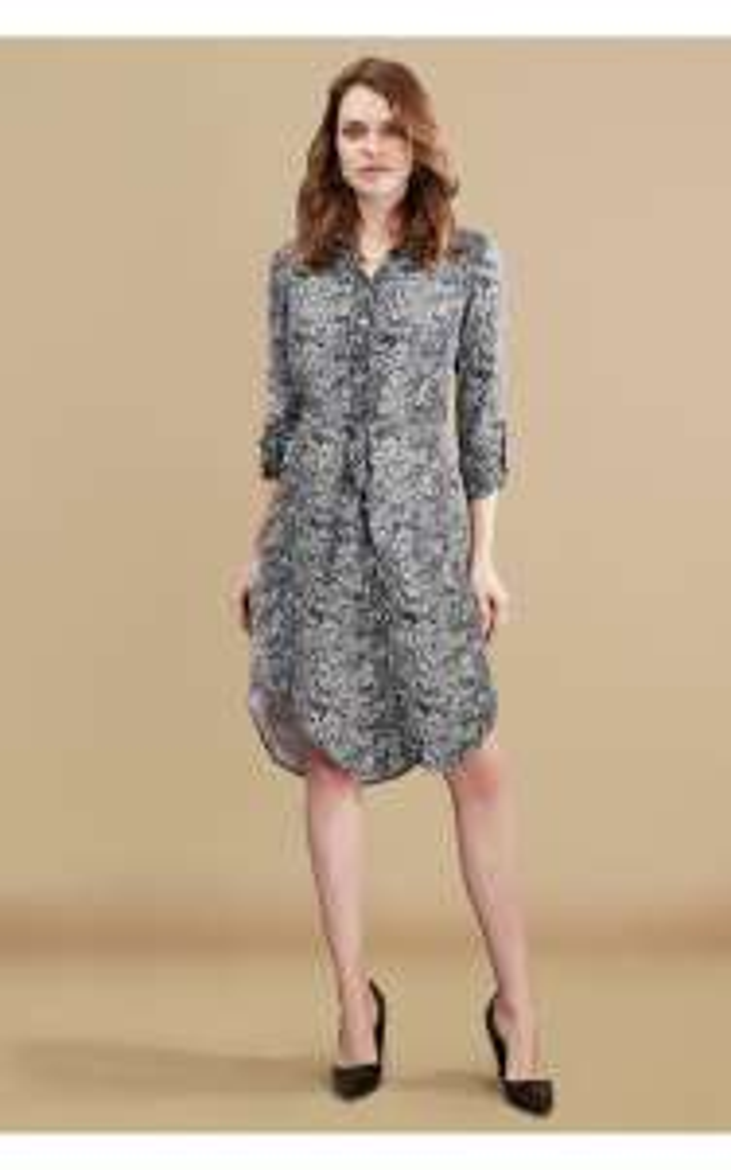 GREY SNAKE PRINT SHIRT DRESS £12.99 + 99p C&C @ Select Fashion
