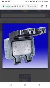 BG Storm13 Amp 2 Gang DP Weatherproof Switched Socket - IP66 £11.70 Delivered @ TLC Direct
