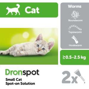Dronspot Cat Wormer buy one get one half price prices from £12 for 1 Pack
