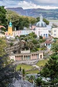Free entry to Portmeirion village & gardens Friday March 1st for St Davids Day - usually £8 plus free or cheap Bala Lake Railway trip