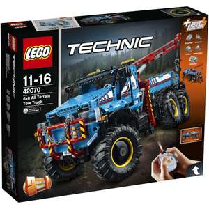 LEGO Technic: 6x6 Remote Control All Terrain Tow Truck (42070) - £139.99 with free delivery @ TheHut