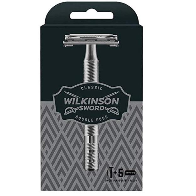 Wilkinson Sword Classic Double Edge Safety Razor + 5 Blades £9.08 @ Amazon Prime (+£4.49 non Prime)
