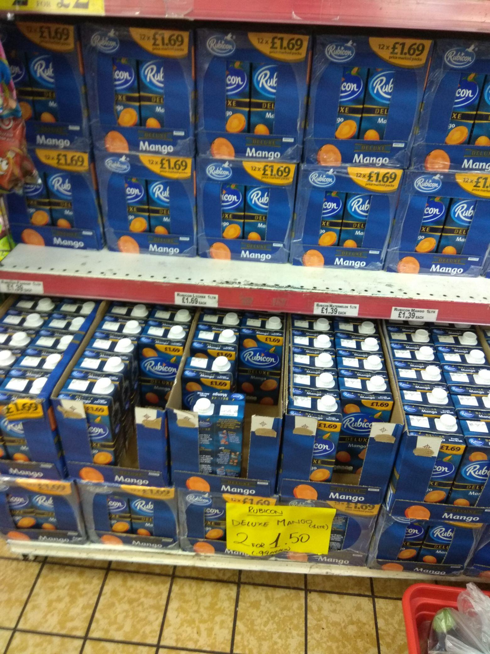 2 x Rubicon Deluxe Mango 1 litre cartons - £1.50 Instore @ Worldwide Foods