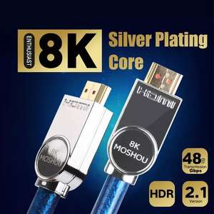 Moshou Latest HDMI 2.1 Ultra High Speed 48 gbps 4K cable 0.5 metre AliExpress / SIKAIelectrical Store