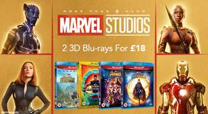 Marvel Multi-buy Offer - 2 DVD for £12, 2 Blu-ray for £15, 2 3D Blu-ray for £18, 2 4K UHD for £30 @ Zoom & Amazon
