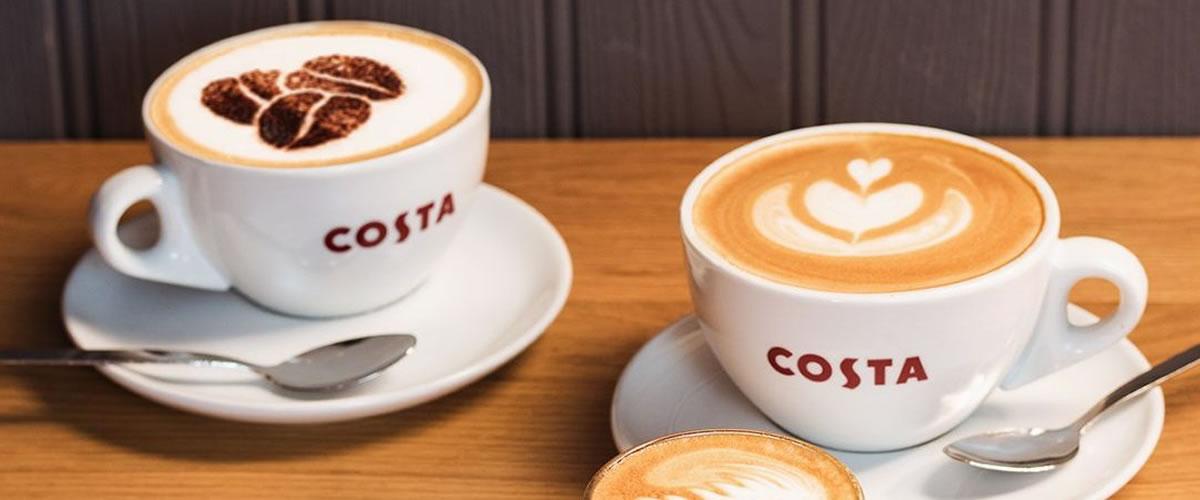 TWO FREE regular hot drink up to £2.65 @ Costa via Vodafone rewards