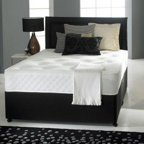 Suede Divan Bed + Memory Mattress +  Headboard Single £71.22 / 4ft Small Double / 4ft 6 Double £117.30 w/code @ Bed_world ebay