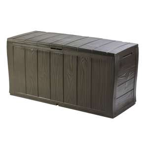 Keter Broadway Plastic Garden Deck Box - 270L/Brown £28.01 @ Homebase