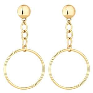 Mood  Gold chain and hoop earrings @ Debenhams With Free Click And Collect + Free £5 Voucher To Be Used Instore £3.60