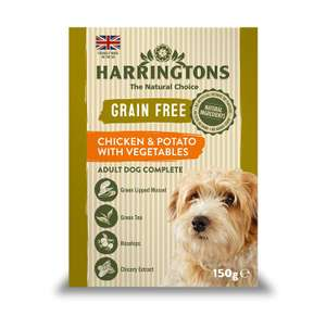 Harringtons pet food at Amazon Pantry (e.g Harringtons Wet Chicken and Potato Dog Food, 7 x 150g £1.42) (Min £15 spend + £3.99 delivery)