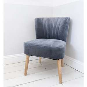 VELVET OYSTER CHAIR - SUE RYDER CHARITY £71.99 Delivered with code