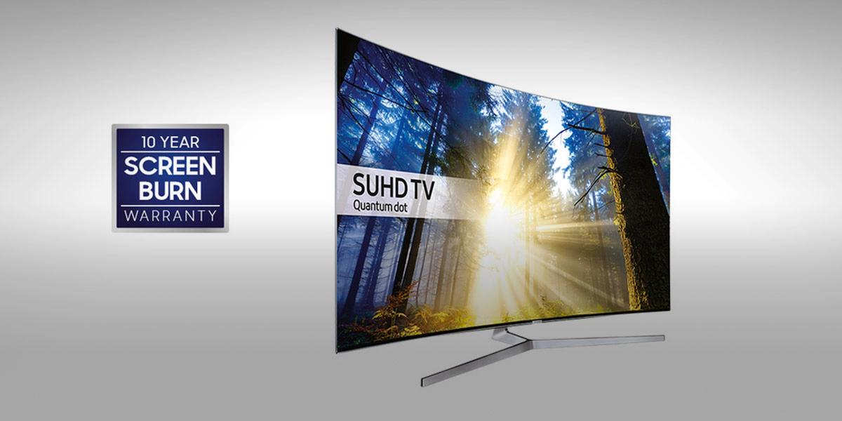 10 Year Screen Burn Warranty with Samsung TV's