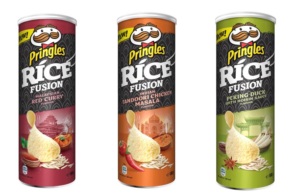 Pringles Rice Fusion Indian Tandoori Chicken Masala /  Malaysion Red Curry / Peking Duck with Hoisin Flavour 160g - £1 @ Asda