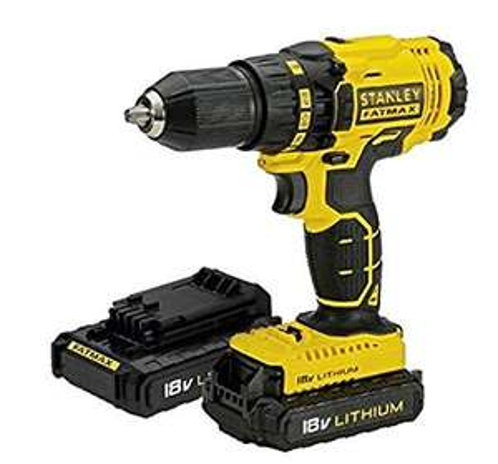 Stanley FatMax Cordless 18V 2Ah Li-ion Brushed Combi drill 2 batteries FMC626D2K-BQGB £60