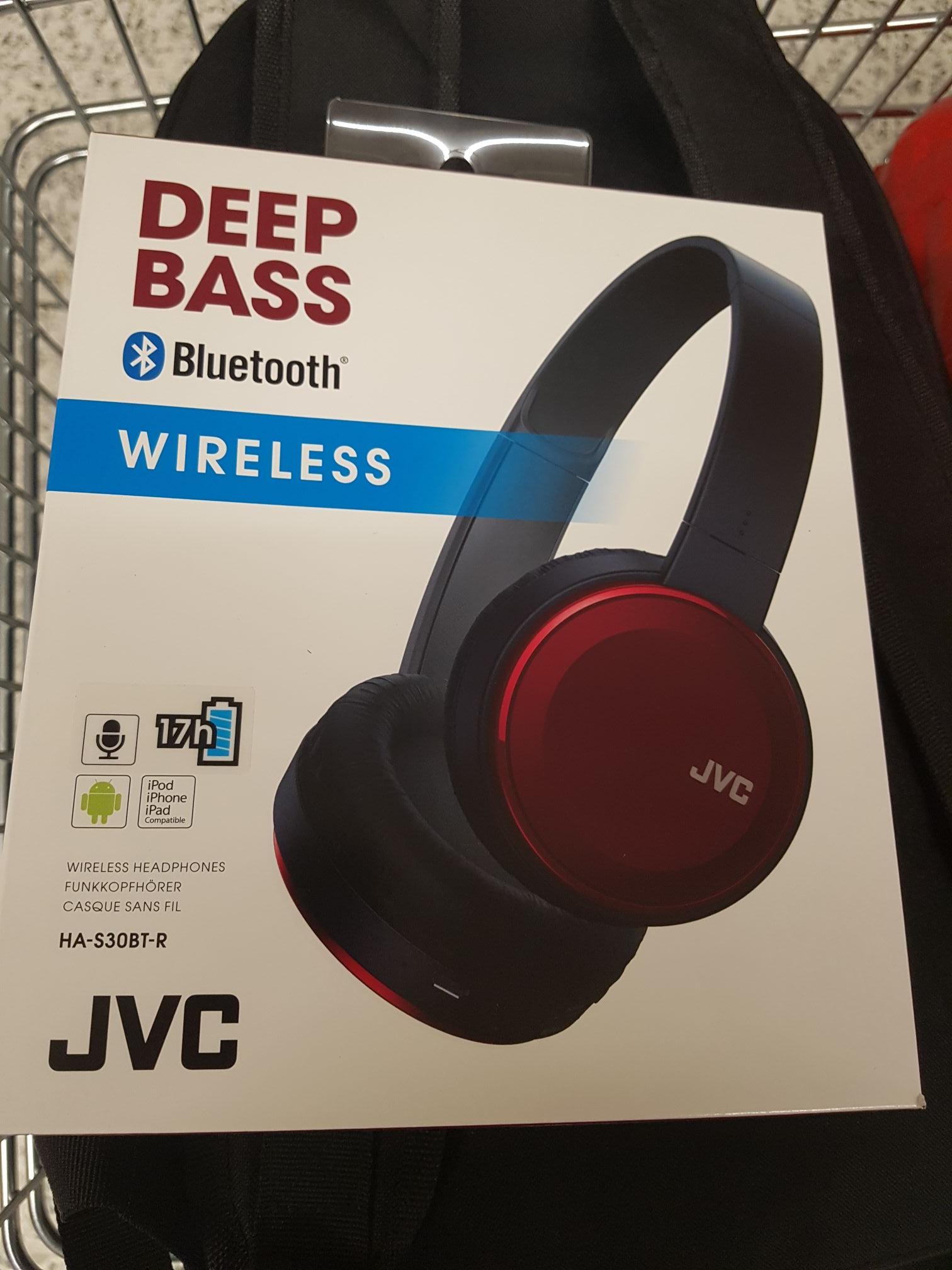 JVC S30BT wireless deep bass headphones £8 instore at  ASDA