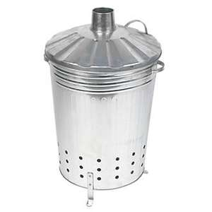 Durable galvanised steel Incinerator Bin 90Ltr £12.99 at Screwfix. Ideal for burning a wide range of garden waste.