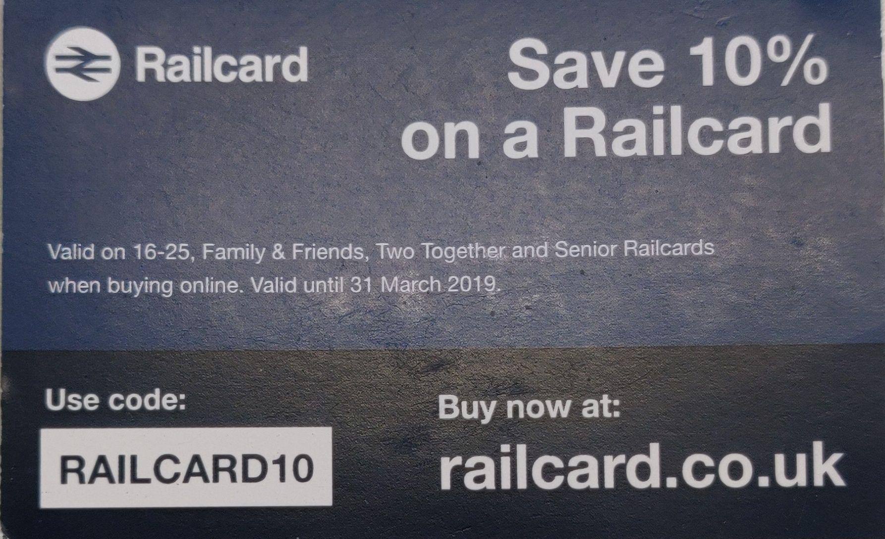 Save 10% on a Railcard