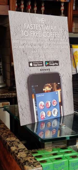 Caffe Nero - 5 free gold stamps (New app users)