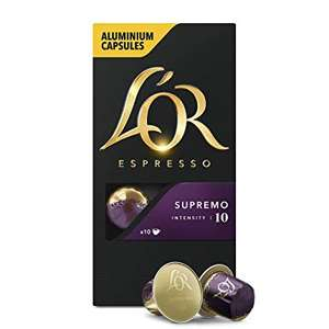 L'Or Aluminium Espresso Supremo Coffee Pods - Nespresso Compatible £2.00 per box of 10 @ Sainsbury's