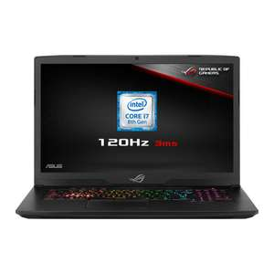 "17.3"" ASUS ROG Strix SCAR GL703GS, FHD, 120Hz, IPS, i7-8750H, 16GB DDR4, 256GB NVMe+1TB HDD, 8GB GTX 1070, £1399.99 at Scan (3 free items)"