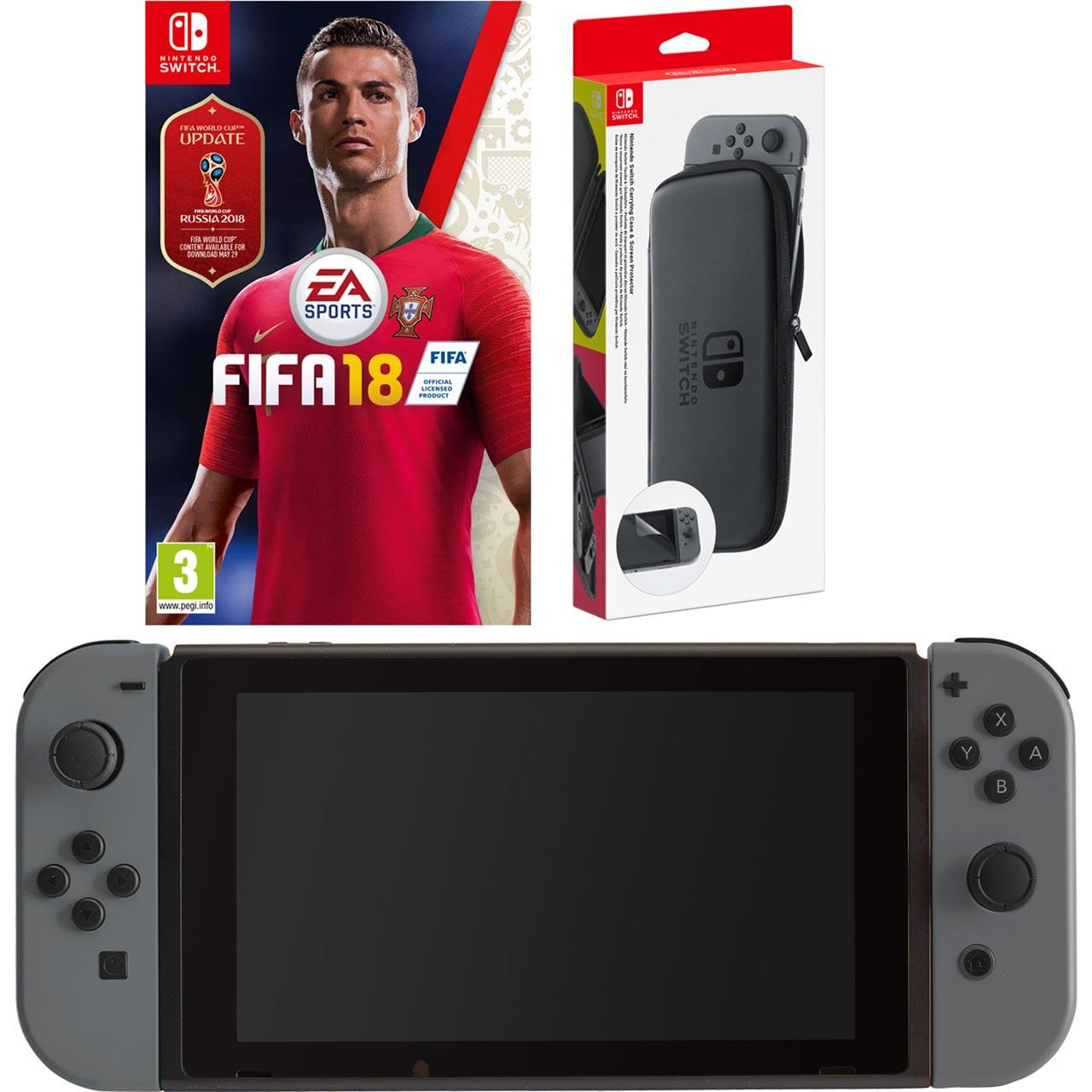 Nintendo Switch 32GB with Fifa 18 (cartridge) - Grey £264 w/code @ AO