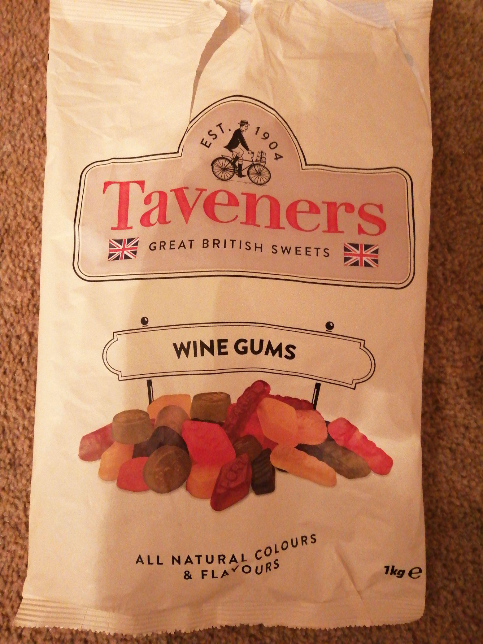 Taveners wine gums 1kg bag £1.99 - Home Bargains