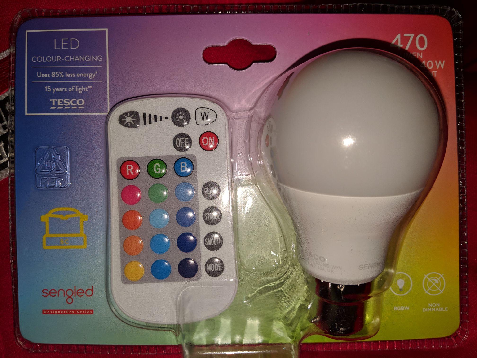 Remote Colour LED BC/B22 Bulb - £3 Instore @ TESCO