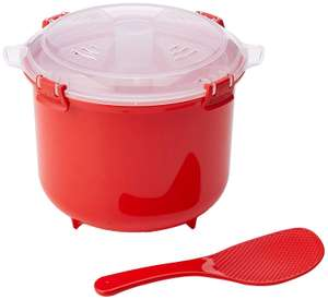 Sistema Microwave Rice Cooker, 2.6 L - Red/Clear £7.49 (Prime) / £11.98 (non Prime) at Amazon