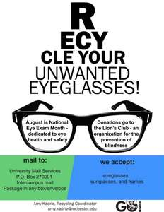 Recycle Old Glasses @ Marie Curie ( + more in OP)