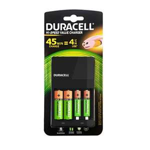 Duracell Value 4 Hour Charger with 2 x AA 1300mah & 2 x AAA 750mah Batteries £12.99 7dayShop