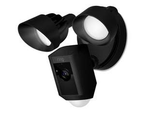 Ring Floodlight Cam Motion Activated Security Camera, Wired, Black at The Electrical Showroom for £219.99 delivered