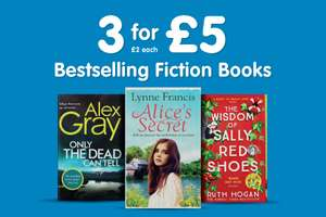 Fiction Books 3 for £5 @ The Works