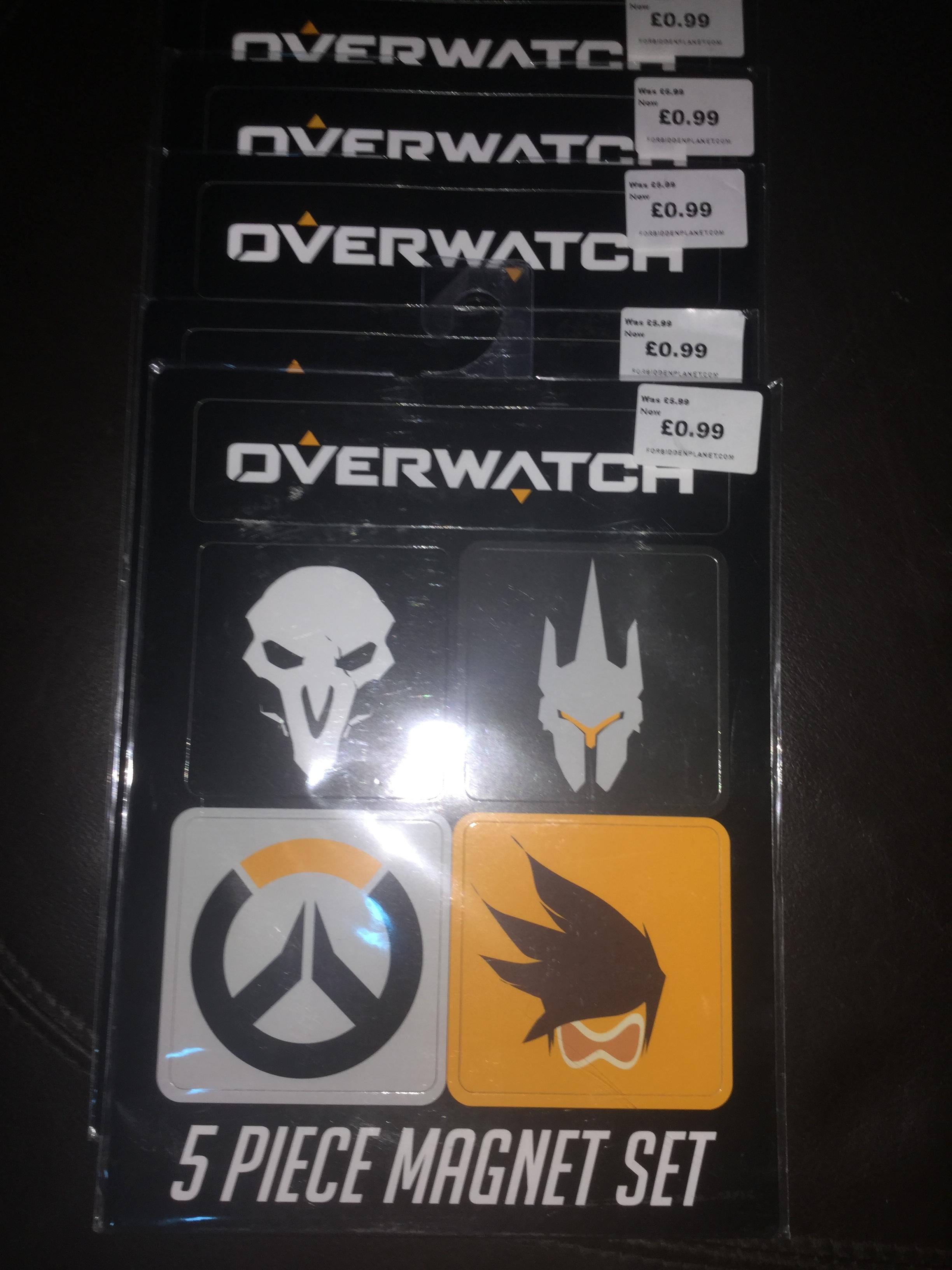 Overwatch 5 piece magnet set now 99p was £5.99 @ Forbidden Planet instore