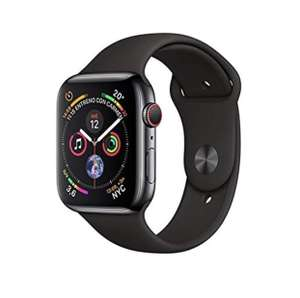 Apple Watch Series 4 (Cellular) 40 mm stainless steel case Black Sport £476.30 (£458.46 using fee free card) @ Amazon Italy