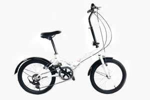 "Viking Citifold Unisex 20"" Wheel 6 Speed Folding Bicycle White - B grade £109.95 Parkers of Bolton"