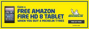 Michelin Pilot Sport 4 225/40R18 92Y x4 + Free Amazon Fire 8 HD tablet at ATS Euromaster £332.96