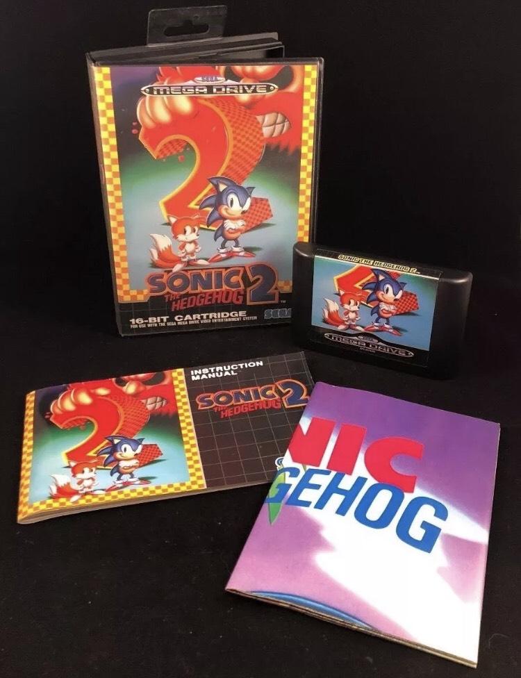 SEGA MEGA DRIVE Sonic the Hedgehog 2. [MINT Boxed/manual & cartridge] £12 @ CeX