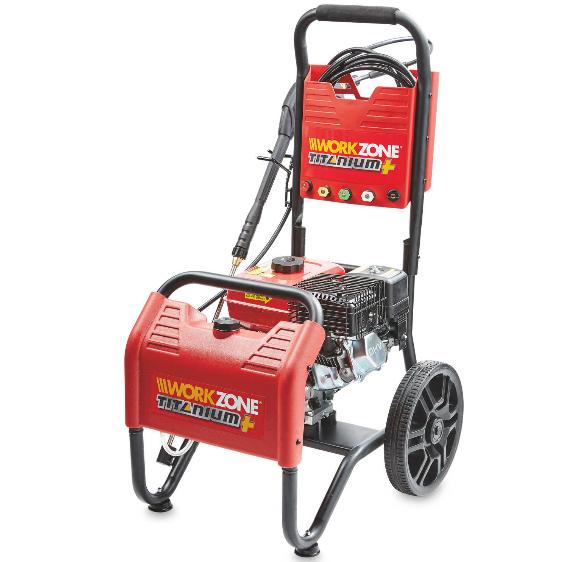 Workzone titanium petrol power washer now £149.99 with 3yr warranty @ Aldi using voucher